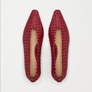 BOTTEGA VENETA Almond Flats Intrecciato Leather